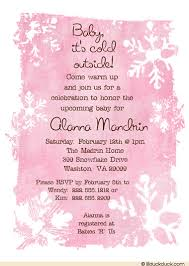 baby girl shower invitations winter snowflakes baby shower invitation personalized