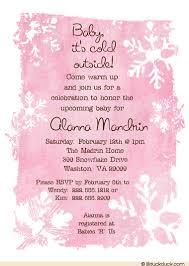 baby shower invitation wording pink baby shower invitation snowflakes winter magic girl