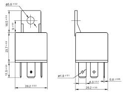 horn12vdcspst spst 12vdc 40a horn relay technical data