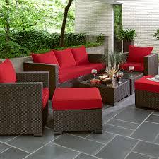 Sunbrella Patio Furniture Sets - grand resort osborn 7 piece sofa seating set featuring sunbrella