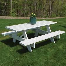 dura trel traditional white picnic table walmart com