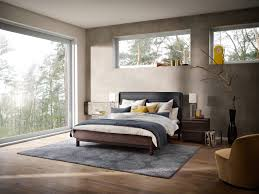 teppichbode schlafzimmer grau luxus schlafzimmer mit gardinen und