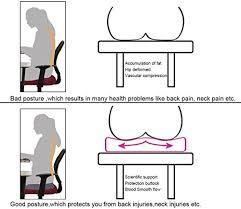 posture bureau iwmh coussin de siège ergonomique en mousse mémoire coussin