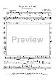 puppet on a string orchestra bells vibes sheet music for piano