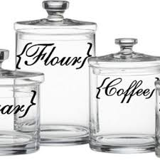 labels for kitchen canisters shop flour sugar canister set on wanelo