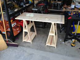 wood desk with glass top furniture mesmerizing light wood sawhorse desk with shelves and