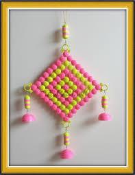 Pink Hanging Door Beads by Indian Hand Made 18 Birds Wall Hangings Door Hanging Pair Latkan