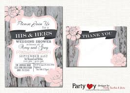 his and hers bridal his and hers wedding shower invitations yourweek 24bfb9eca25e