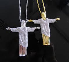 diamond box necklace images High quality box chain 600 simulated diamonds 70mm jesus christ jpg