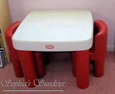 plastic play table and chairs diy little tikes table and chairs we used krylon fusion spray paint
