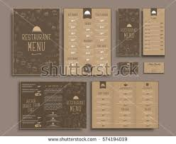 Brochures And Business Cards Templates Business Cards A4 Menu Folding Stock Vector 574194358