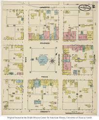 floor plan insurance sanborn maps of texas perry castañeda map collection ut