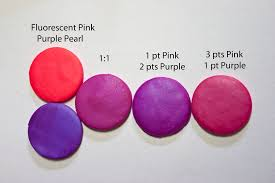 Polymer Clay Home Decor New Color Tuesday Fluorescent Pink Goes Royal Purple Pearl