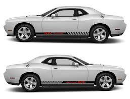 Dodge Challenger Decals - spk213 dodge challenger racing stripes sticker decal kit srt sxt