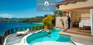 romantic luxury love nest suites in the caribbean sandals