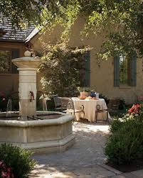 Traditional Outdoor Furniture by Traditional Outdoor Fountains Patio Mediterranean With Patio