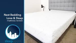 love mattress nest bedding love sleep mattress review youtube