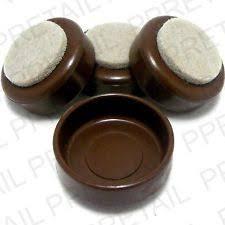 Felt Chair Protectors 4 X Felt Furniture Castor Cups Small Brown Floor Chair Protectors