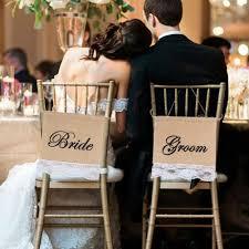 2017 groom bride burlap lace chair signs rustic wedding chair jute