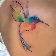 hummingbird sketch tattoo by pete zebley tattoonow