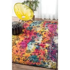 nuloom vintage vibrant watercolor floral multi rug 8 u0027 x 10 u0027 by