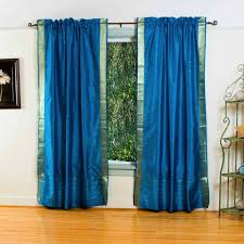 bedrooms rod pocket curtains tier curtains thermal curtains blue