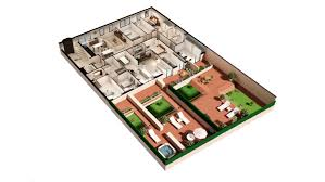 floor plan 3d commercial floor plan 3d housing in the garriga barcelona