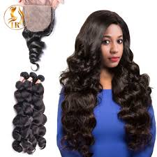pics of loose wave hair 8a peruvian loose wave hair weave with silk base closures new star