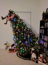 my buddy made a randy orton rko tree topper christmas album on