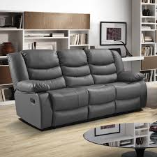 Leather Power Reclining Sofa Living Room Epic Gray Leather Reclining Sofa For Modern Pictures