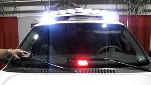 police led light bar new federal signal vision slr led lightbar v shaped light bar