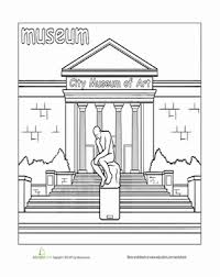 paint places paint the town museum worksheets museums and english lessons