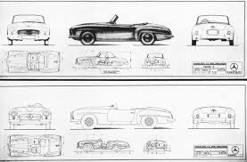 classic cars drawings mercedes underscores u0027value retention u0027 of sports cars it