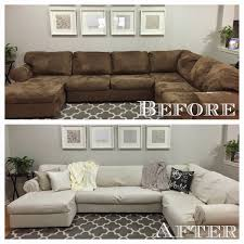 How To Make Slipcover For Sectional Sofa Diy Sectional Sofa Cover Living Room Pinterest Sofa Covers