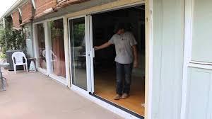 lowes sliding glass door locks patio doors 33 singular 3 panel sliding patio door image design