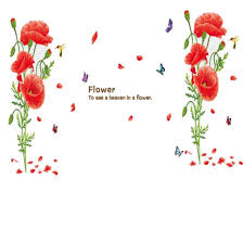 compare prices on poppies wallpaper online shopping buy low price 2015 hot selling corn poppy flower wall stickers decal home decoration removabl wallpaper mural diy decor