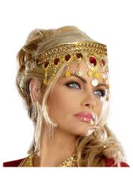 gold headpiece rubies headpiece