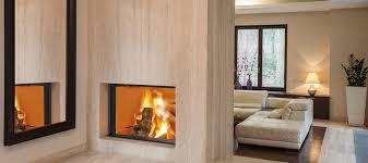 cheminee moderne design poele a bois central double face poêle à bois contemporain en