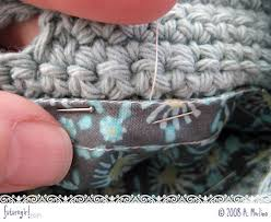 how to join crochet squares completely flat zipper method futuregirl craft blog tutorial sew a lining into a crocheted bag