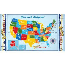 Constitutional Carry States Map Patriotic U0026 Americana Discount Designer Fabric Fabric Com