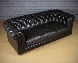 vintage leather chesterfield sofa antiques atlas vintage black leather chesterfield sofa c 1970