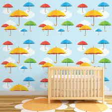 destudio u0027colorful umbrellas fly in the sky u0027 peel and stick