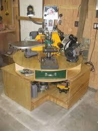 rotating electric tool station garage storage ideas pinterest