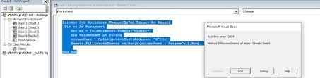 excel vba copy active cell data to all active sheet error