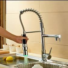 Led Kitchen Faucets Led Kitchen Faucet Rozinsanitary Led Spout Kitchen Sink Faucet