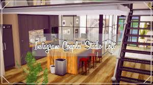 the sims 4 house build instagram couples studio loft speed