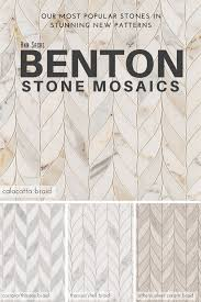new benton stone mosaics in braid pattern tiles come in calacatta