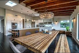 Modern House Dining Room - modern house landscape contemporary with wood fence decorative