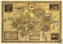 map from lord of the rings the lord of the rings map parchment paper mines of moria waxed map