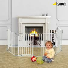 hauck baby park playpen stair gate fire guard divide white